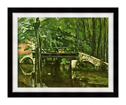 Paul Cezanne The Bridge At Maincy canvas with modern black frame