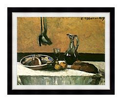Camille Pissarro Kitchen Still Life canvas with modern black frame