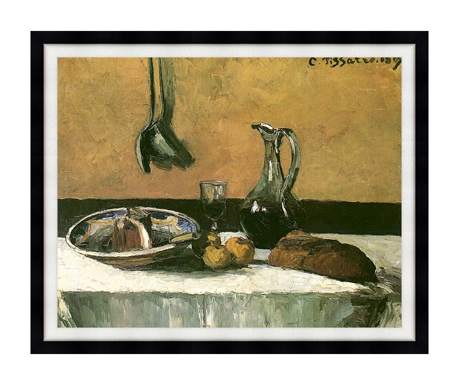 Camille Pissarro Kitchen Still Life with Modern Black Frame