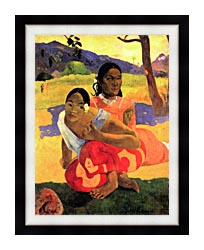 Paul Gauguin When Will You Marry canvas with modern black frame