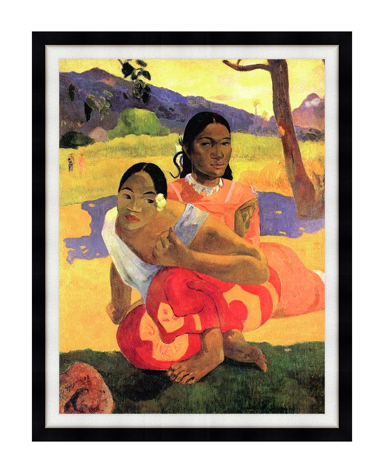 Paul Gauguin When Will You Marry? with Modern Black Frame
