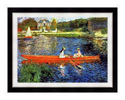 Pierre Auguste Renoir The Skiff canvas with modern black frame