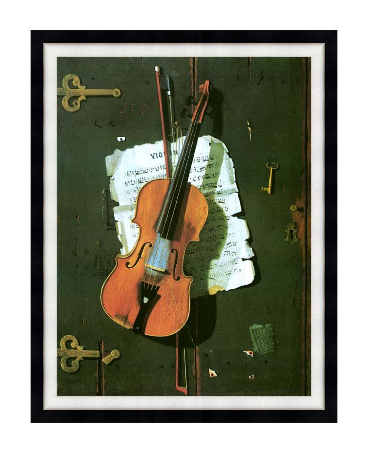 John Frederick Peto The Old Violin with Modern Black Frame