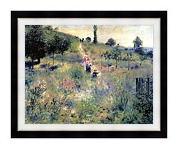 Pierre Auguste Renoir Path Winding Through High Grass canvas with modern black frame