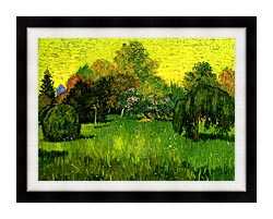 Vincent Van Gogh Public Park With Weeping Willow The Poets Garden I canvas with modern black frame