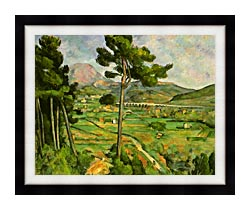 Paul Cezanne Mont Sainte Victoire Seen From Bellevue canvas with modern black frame