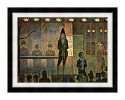 Georges Seurat Invitation To The Sideshow canvas with modern black frame