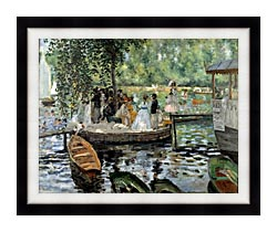 Pierre Auguste Renoir La Grenouillere canvas with modern black frame