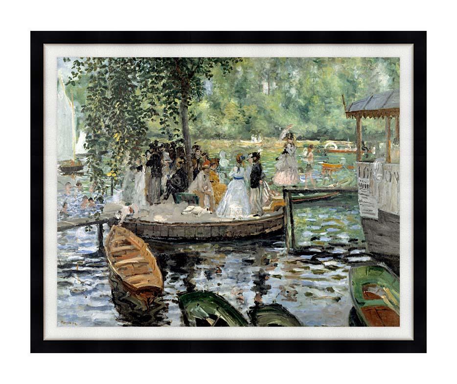 Pierre Auguste Renoir La Grenouillere with Modern Black Frame