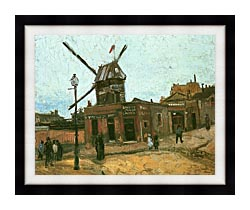 Vincent Van Gogh Le Moulin De La Galette canvas with modern black frame
