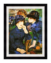 Pierre Auguste Renoir Two Girls canvas with modern black frame