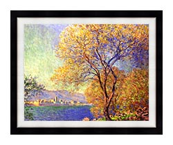 Claude Monet Antibes Seen From La Salis canvas with modern black frame