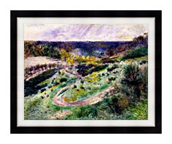 Pierre Auguste Renoir Road At Wargemont canvas with modern black frame