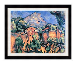 Paul Cezanne Mont Sainte Victoire Seen From Bibemus canvas with modern black frame