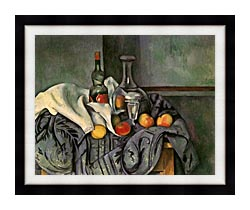Paul Cezanne Still Life With Peppermint Bottle canvas with modern black frame
