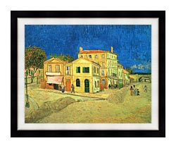 Vincent Van Gogh Vincents House In Arles canvas with modern black frame