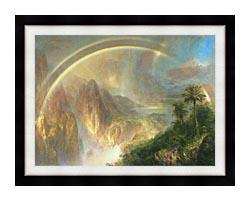 Frederic Edwin Church Rainy Season In The Tropics Detail canvas with modern black frame