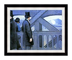Gustave Caillebotte The Europe Bridge canvas with modern black frame