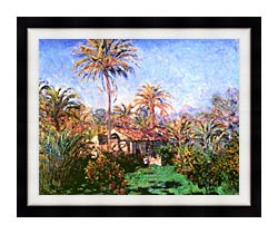Claude Monet Palm Trees At Bordighera canvas with modern black frame