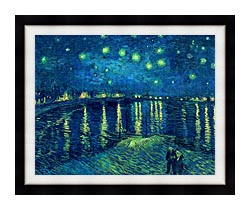 Vincent Van Gogh Starry Night Over The Rhone canvas with modern black frame