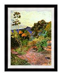 Paul Gauguin Martinique Landscape canvas with modern black frame