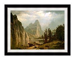 Albert Bierstadt Merced River Yosemite Valley canvas with modern black frame