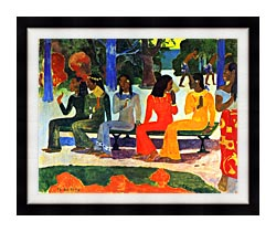 Paul Gauguin We Shall Not Go To Market Today canvas with modern black frame