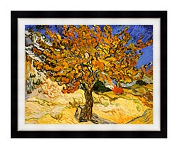 Vincent Van Gogh Mulberry Tree canvas with modern black frame