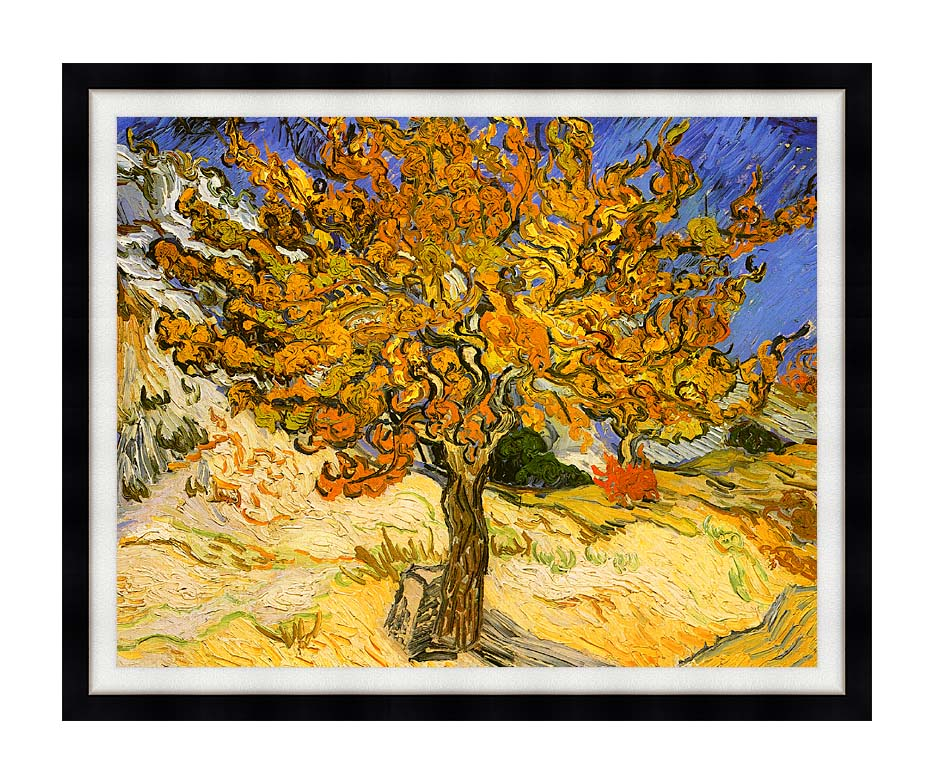 Vincent van Gogh Mulberry Tree with Modern Black Frame