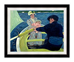 Mary Cassatt The Boating Party canvas with modern black frame