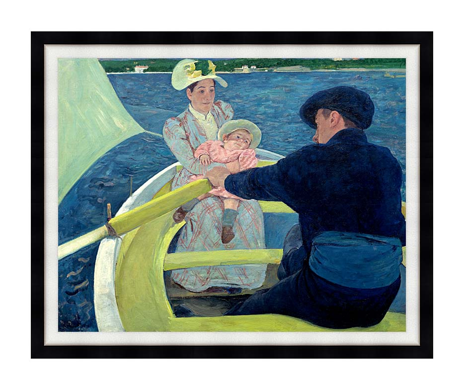 Mary Cassatt The Boating Party with Modern Black Frame