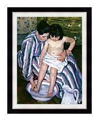 Mary Cassatt The Bath canvas with modern black frame