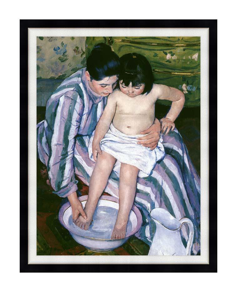 Mary Cassatt The Bath with Modern Black Frame