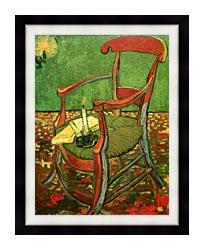 Vincent Van Gogh Paul Gauguins Armchair canvas with modern black frame