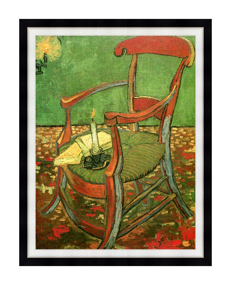 Vincent van Gogh Paul Gauguin's Armchair with Modern Black Frame