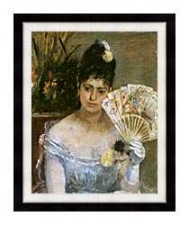 Berthe Morisot At The Ball canvas with modern black frame