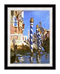 Edouard Manet The Grand Canal   Venice Italy canvas with modern black frame