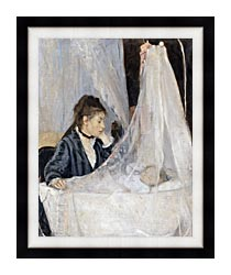 Berthe Morisot The Cradle canvas with modern black frame