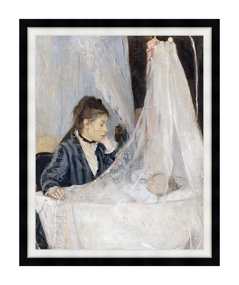 Berthe Morisot The Cradle with Modern Black Frame