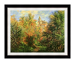 Claude Monet Gardens At Bordighera canvas with modern black frame