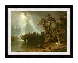 Albert Bierstadt Passing Storm Over The Sierra Nevadas canvas with modern black frame