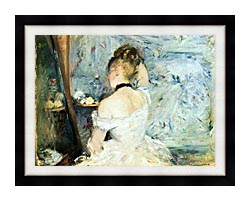 Berthe Morisot Lady At Her Toilette canvas with modern black frame