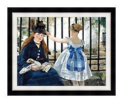 Edouard Manet Gare Sainte Lazare canvas with modern black frame