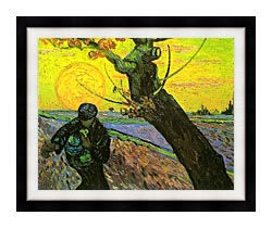 Vincent Van Gogh The Sower 1888 canvas with modern black frame