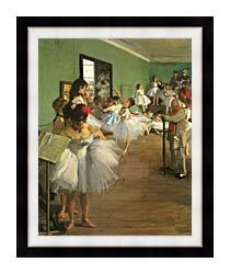 Edgar Degas The Dance Class canvas with modern black frame