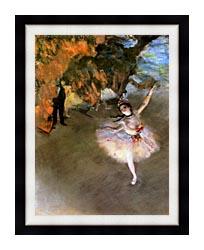 Edgar Degas The Star canvas with modern black frame