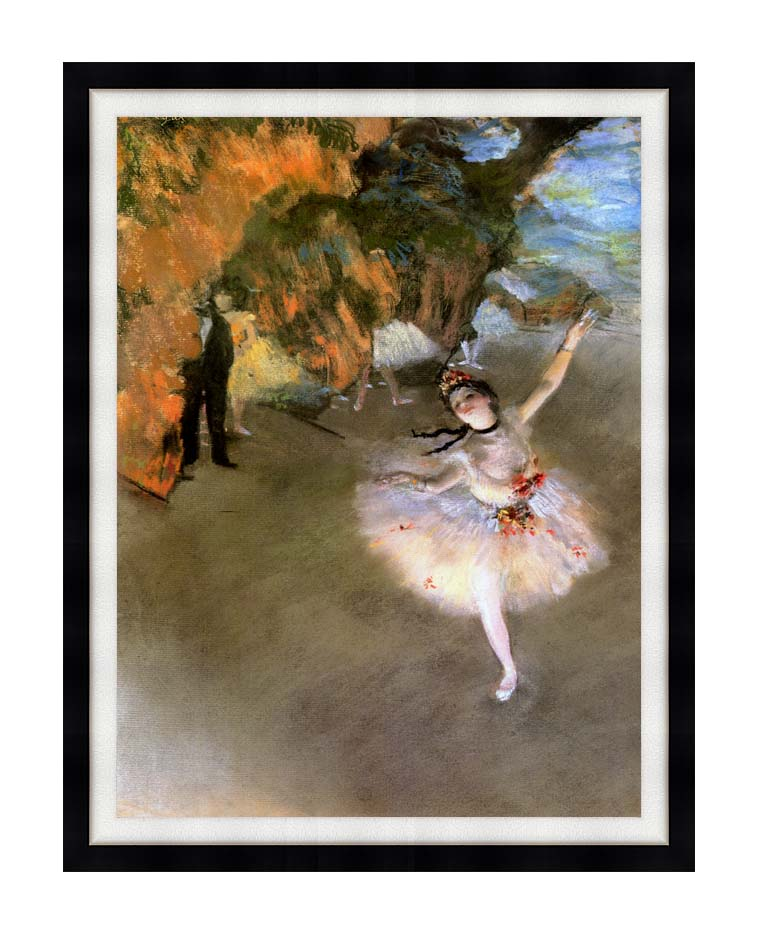 Edgar Degas The Star with Modern Black Frame