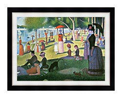 Georges Seurat Sunday Afternoon On The Island Of La Grande Jatte canvas with modern black frame