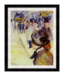Pierre Auguste Renoir Place Clichy canvas with modern black frame