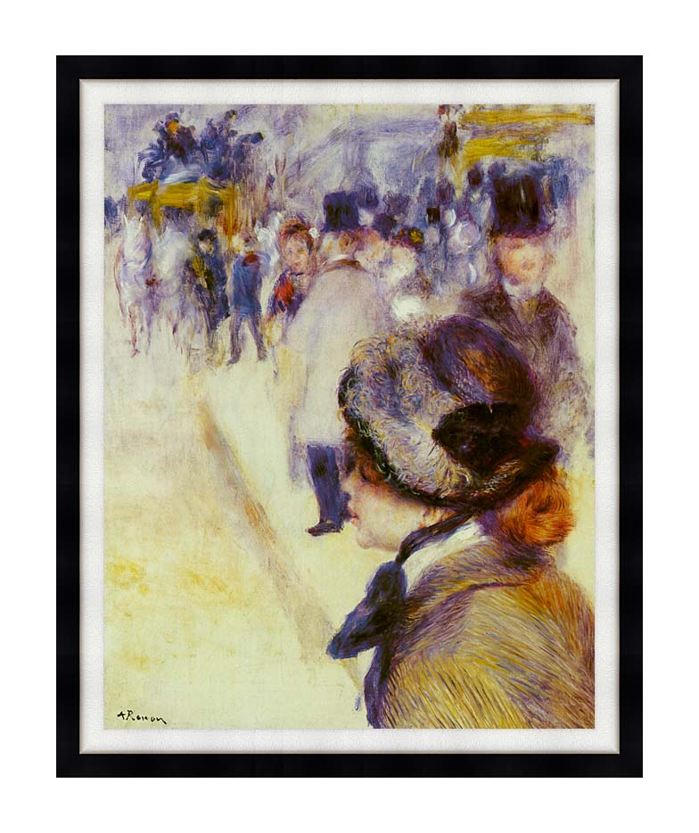 Pierre Auguste Renoir Place Clichy with Modern Black Frame